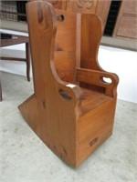Pine child's rocking chair