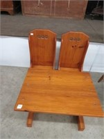 Pine child's table & 2 chairs