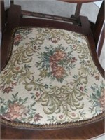 Needlepoint folding rocking chair