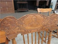 Pressed back arm chair