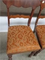 Pair of antique diner chairs