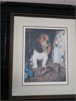 "Ross Logan ""Wanting to play"" numbered dog print"