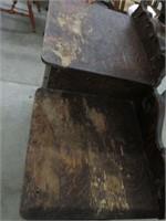 Oak dresser with mirror/wash stand