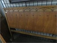Antique double bed with frame