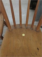 3 primitive dining chairs
