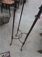 2pc iron candle holder