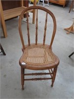 Cane seat diner chair