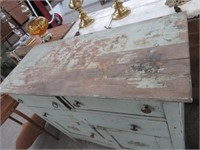 Antique painted buffet