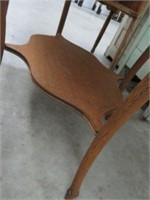 Oak curved leg parlour table