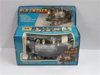 Battery operated old smoker train with box