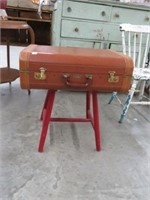 Vintage suitcase & stand