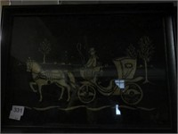 Pair of horse & buggy plaques