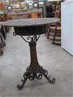 Wicker pedestal table