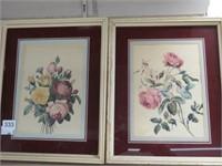 Pair of flowered prints