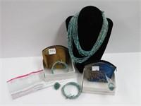 Group of bracelets, necklaces, etc.