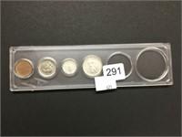 Partial set of 1867-1967 coins