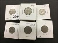 23 - 1930's nickels
