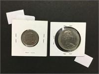2015 flag quarter & 1969 silver dollar