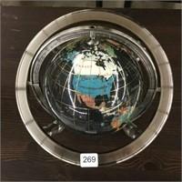 Gemstones of the world globe