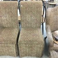 Pair of upholstered diner chairs