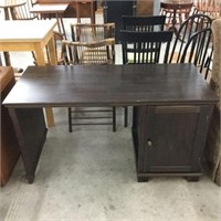 Pine single pedestal desk unit