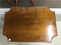 Carved pedestal parlour table