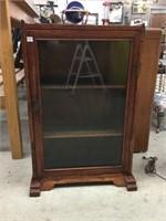 Small glass door shelf unit