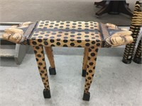 Wood leopard table