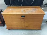 Large antique blanket box
