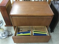 2 drawer wooden lateral filing cabinet