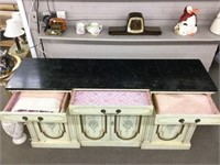 Large marble top buffet