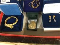 Tray of Camrose & Kross costume jewelry