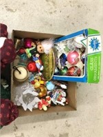 Box lot of Christmas ornaments