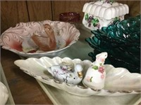 Tray of serving dishes