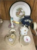 Group of dishes, ashtray, etc.