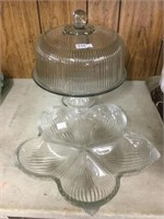 Covered cake plate & serving dish