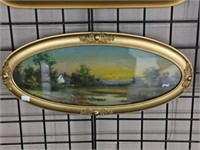 Framed landscape print & framed landscape pastel