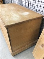 Early blanket box with dove tailed corners