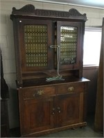 Antique flat to wall cupboard