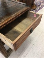 Decorative wood stand with drawer