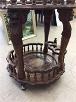 Carved decorative tea cart