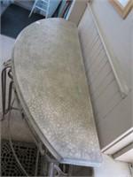 Iron legged sofa table