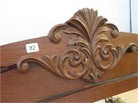 Carved oak dresser mirror