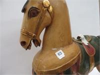 Wood decorative horse (broken ear)