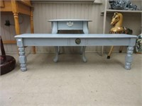 Painted end table & shelf unit