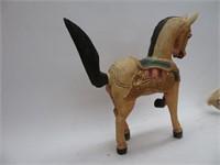 2 decorative wood horses