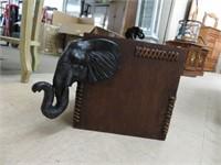 Decorative wooden elephant box