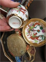Tray of Oriental dishes