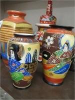 Tray of Oriental vases