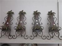 4 metal wall racks